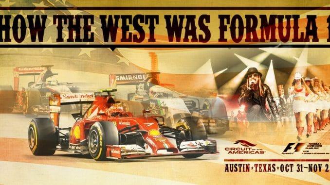 GP des Etats Unis - Austin. Affiche de Ferrari