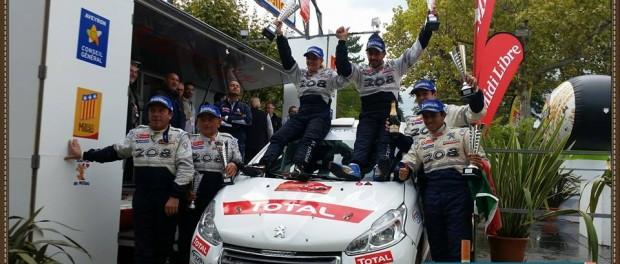 Podium de la 208 Cup au Rallye Terre des Cardabelles 2014