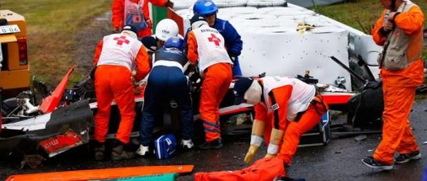 Jules Bianchi, premiers secours