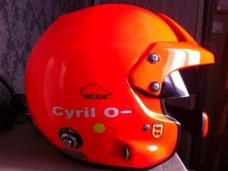 Le casque de Cyril Laborderie