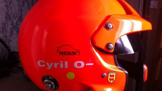 Le casque de Cyril Laborderie