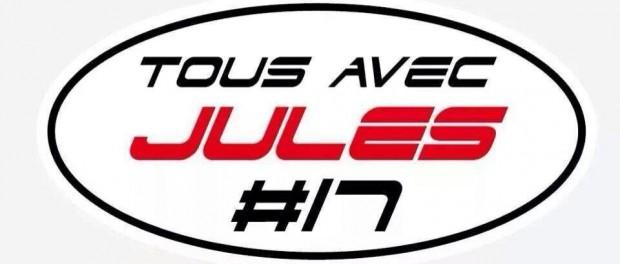 sticker porté par les pilotes ce WE pour Jules Bianchi
