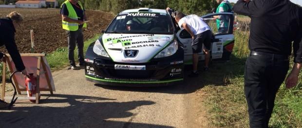 Bruno Longépé au point stop de l'ES1, Finale de la coupe de France des Rallyes 2014