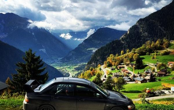 Rallye du Valais 2014 : paysage de carte postale