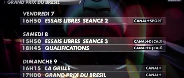 F1 brésil 2014 C+