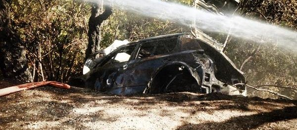 Skoda Fabia S2000 Sepp Wiegand après l'incendi