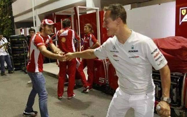 Michael Schumacher et Jules Bianchi
