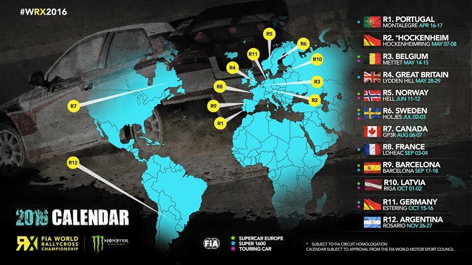 Calendrier World RX 2016