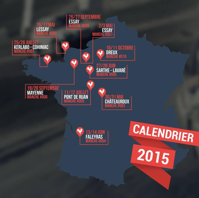 calendrier RallyCross France 2015