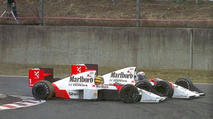 Prost Senna McLaren Honda - Suzuka 1989