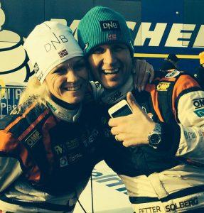 le couple Solberg - Rallye de Suède Historique 2015