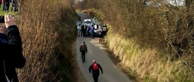 Sortie d'Eric Brunson - Rallye du Touquet 2015