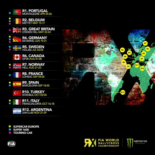 calendrier WorldRX