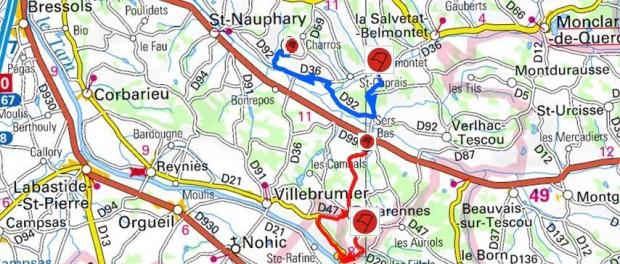 Carte Rallye Frontonnais 2015 2015