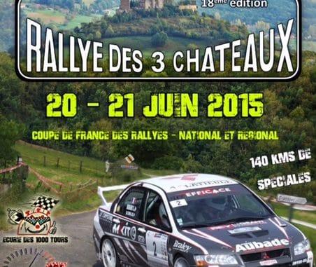 pronostic rallye 3 châteaux 2015 : l'affiche du rallye
