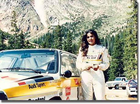 Les femmes et l'automobile : Michele Mouton - Audi - Pikes Peak.