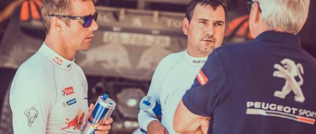 Sébastien Loeb au Dakar 2016 avec Daniel Elena