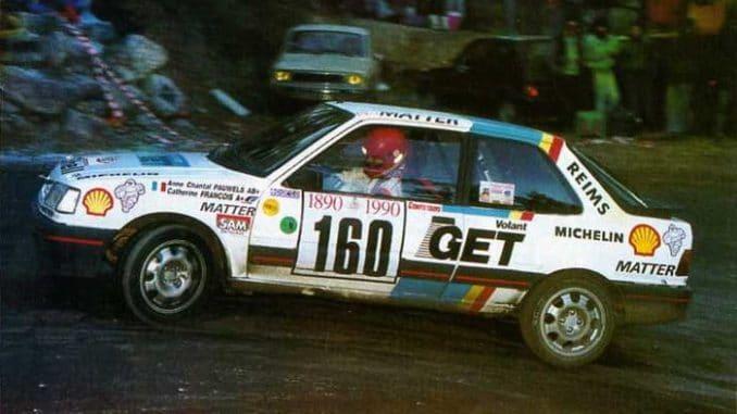 Anne Chantal Pauwels Monte Carlo 1990 309 Gti