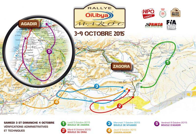 Rallye Maroc 2015 parcours