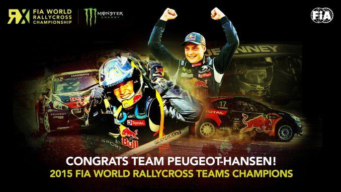 Rallycross Franciacorta 2015 titre pour le Team Peugeot Hansen