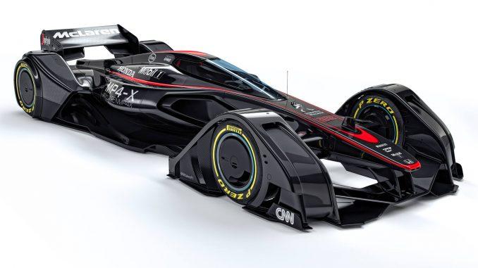 McLaren MP4-X Concept Car 3/4 avant