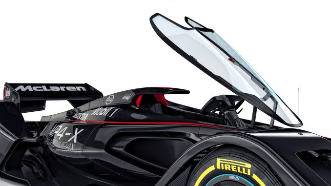 Le cockpit de la McLaren MP4-X Concept Car