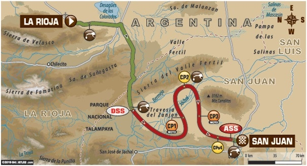 Dakar 2016 Etape 11 carte