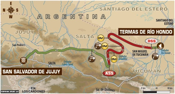 Dakar 2016 Etape 3 carte