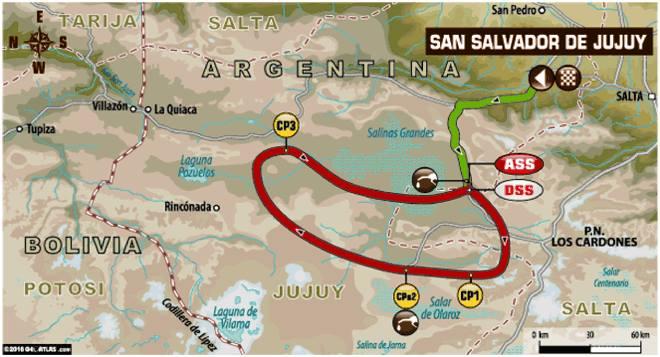 Dakar 2016 Etape 4 carte