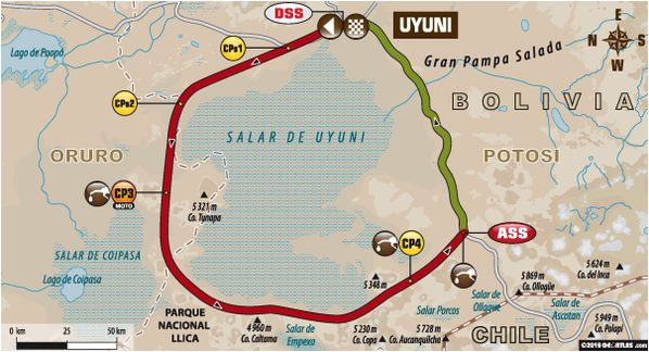 Dakar 2016 Etape 6 carte