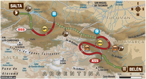 Dakar 2016 Etape 8 carte