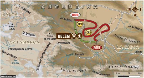 Dakar 2016 Etape 9 carte