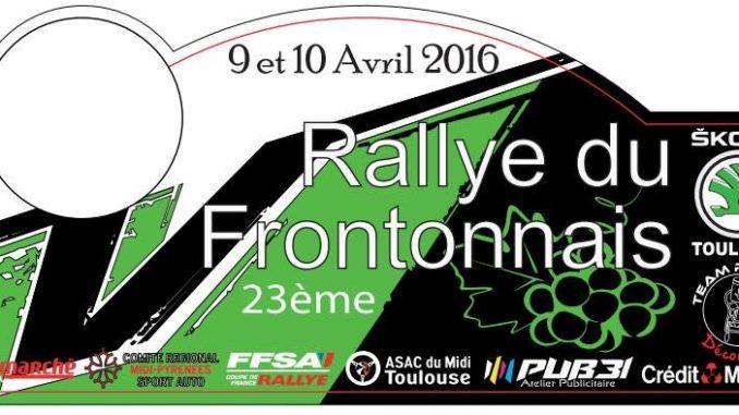 info rallye Frontonnais 2016