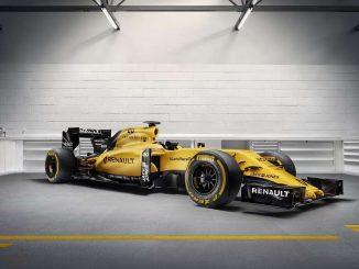 Renault F1 2016 jaune