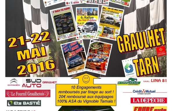 Engagés Rallye Val Dadou 2016