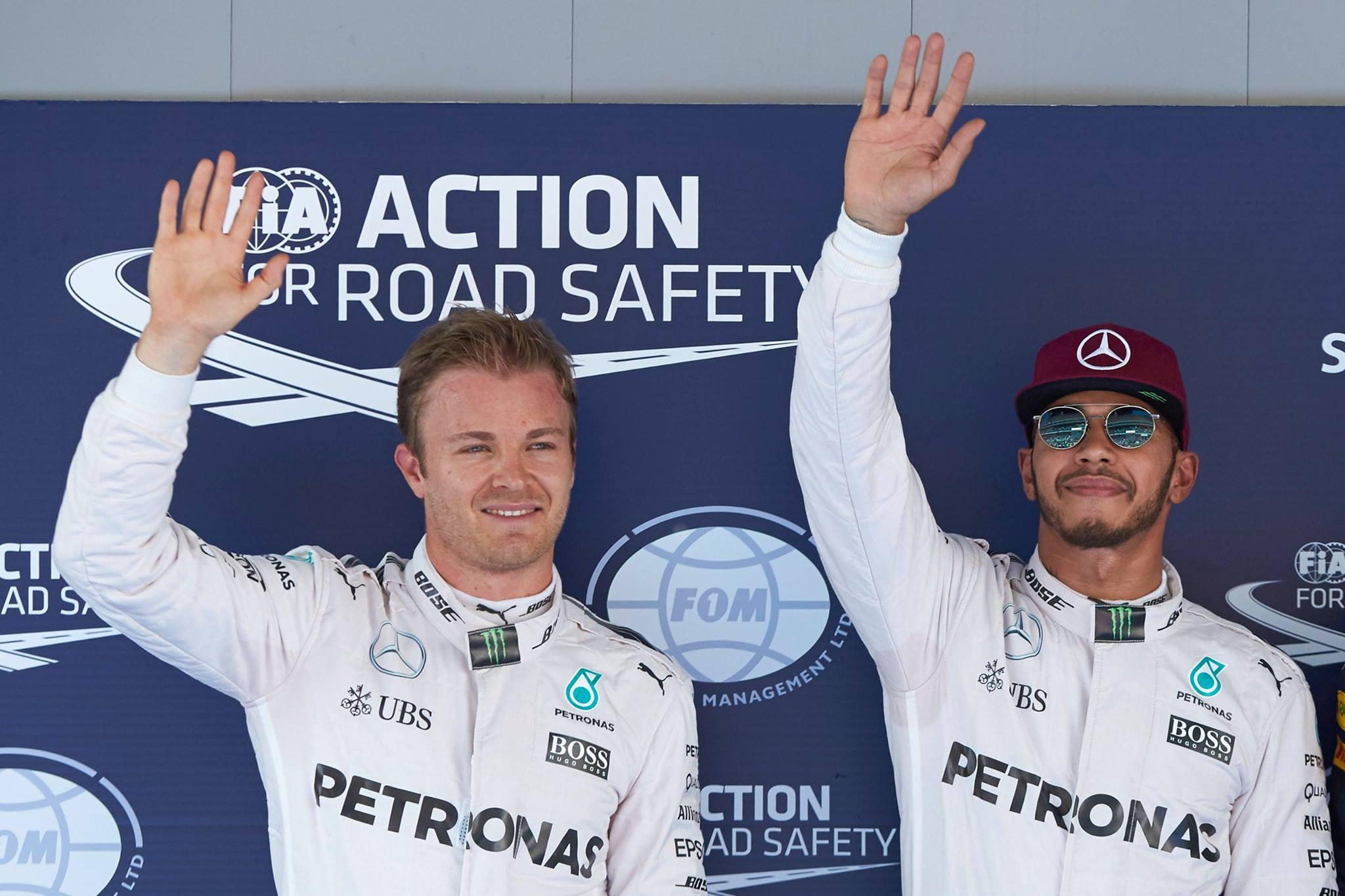Rosberg Hamilton GP Barcelone 2016