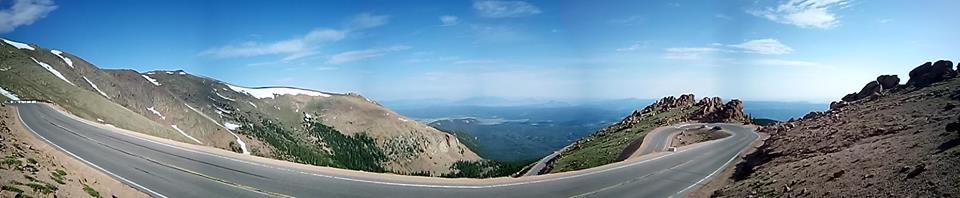 Pikes Peak en spectateur panorama