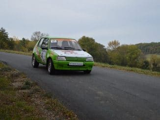 Rallye du Chasselas 2016 présentation par David Garrigues ici avec sa 205