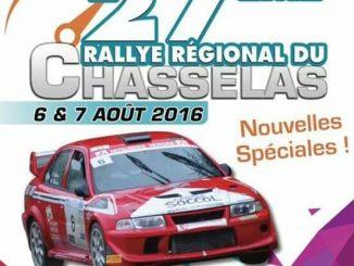 Affiche engagés rallye du chasselas 2016
