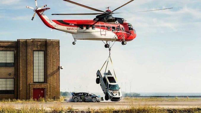 ken block gymkhana 9 helicopter