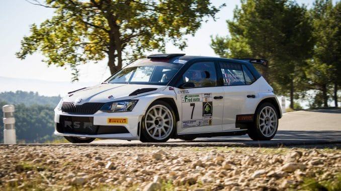 Fabia R5 J-A Courchet n'a pas démérité. (c) : JD Rallye