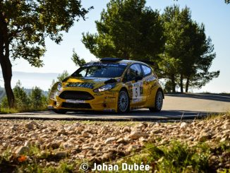 Nicolas Latil et Audrey Nesta s'imposent pour 1 sec au Rallye de Sarrians 2016. (c) : JD Rallye