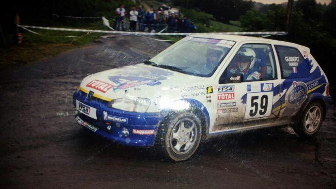 Peugeot 106 de Sébastien Guibert lauréat Rallye Jeune au début des années 2000.