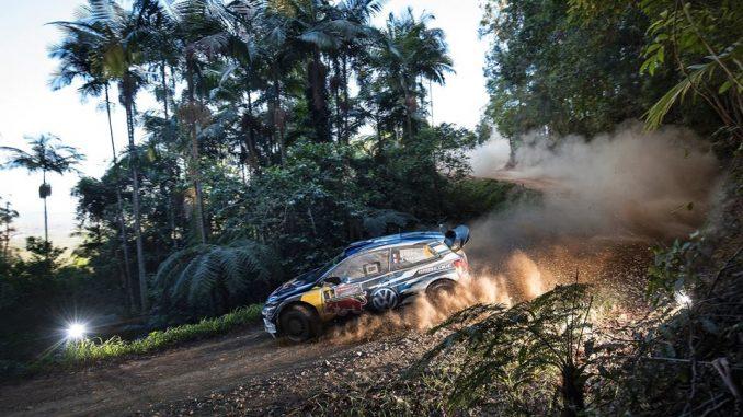 Sébastien Ogier à l'attaque. Rallye d'Australie Jour 1. Photo (c) : Helena El Mokni