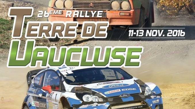 parcours Rallye Terre de Vaucluse 2016