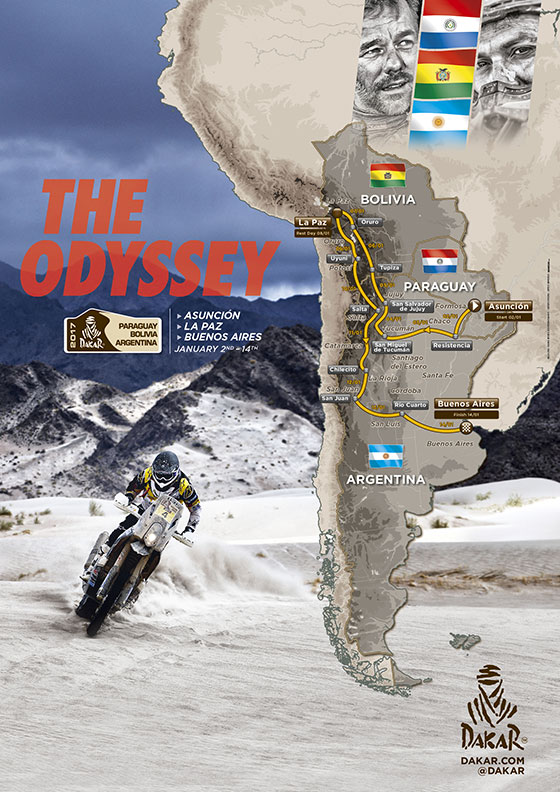 Parcours Dakar 2017