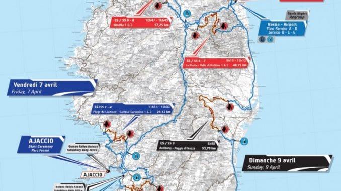 Le Tour de Corse 2017 se dévoile : Carte Tour de Corse 2017