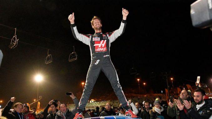 Romain Grosjean remporte la finale du samedi. Crédit Photo : Trophée Andros