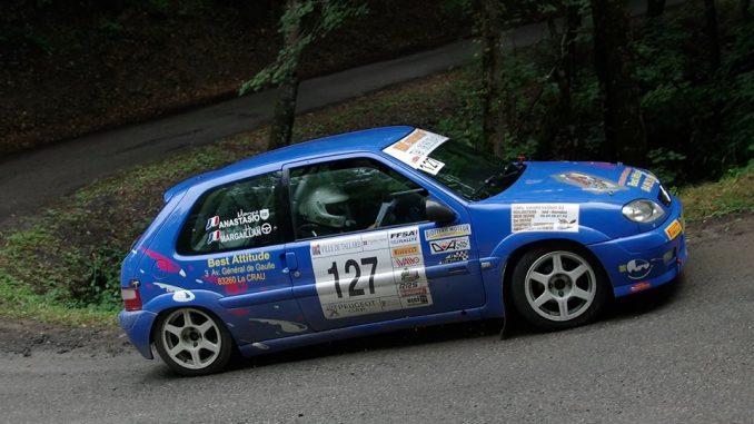 Hugo Margaillan lors du Rallye Gap Racing 2015. Crédit photo : Karine Bourgain