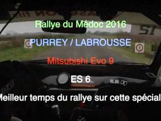 On Board Purrey Labrousse Rallye Medoc 2016